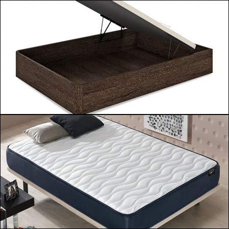Mueble Canape con Base Tapizada + Colchon Visco 90x190 cms, Subida Domicilio ref-29