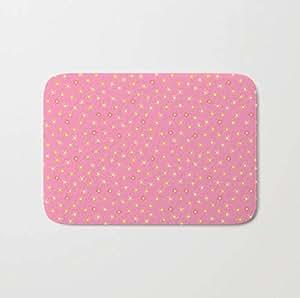 Amazon.com: Pink Flower Spring Bath Mat Rug Home Decor Add