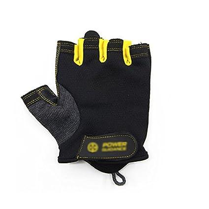 Manoplas Hombres y mujeres guantes de fitness de medio dedo antideslizantes Entrenamiento de la fuerza de