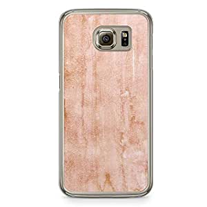 Samsung Galaxy S6 Transparent Edge Phone Case Marble Texture Phone Case Pink Texture Samsung S6 Cover with Transparent Frame