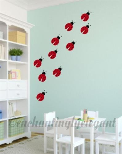 Lady Bugs Vinyl Decal Wall Stickers Baby Nursery Room Wall Art Decor -