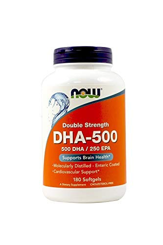 NOW Foods DHA-500 180 Softgels (2-Pack) by Now Foods