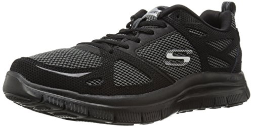 Skechers Sport Heren Flex Advantage Eerste Team Sneaker Zwart