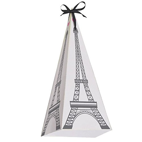 Happy Birthday 'Party in Paris' Eiffel Tower Favor Boxes (8ct)]()