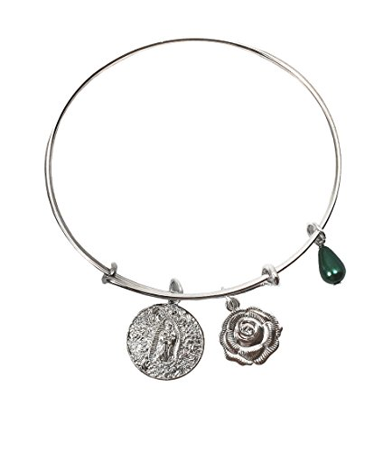 (CB Our Lady of Guadalupe Silver Tone Bangle 3