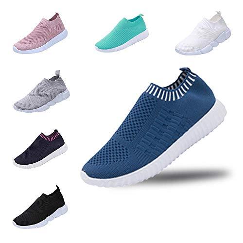 YWLINK Damen Schuhe Outdoor Schuhe Freizeit Slip On Bequeme Sohlen Sports Atmungsaktiv Mesh Schuhe