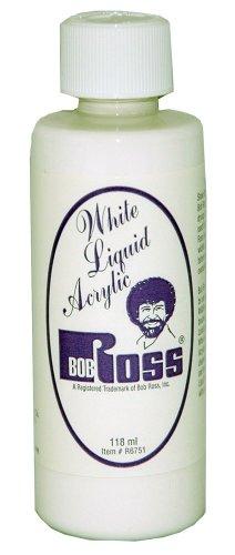 Ross Liquid Base Coat (Bob Ross R6751 118-Ml Liquid Acrylic White)