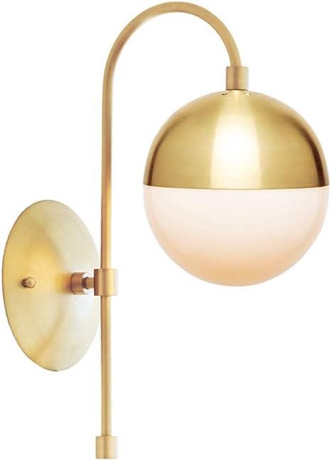 Nordic Modern Copper Led Wall Lamp Bathroom Mirror Glass Ball Wall Light Beside Home Lighting Amazon Com
