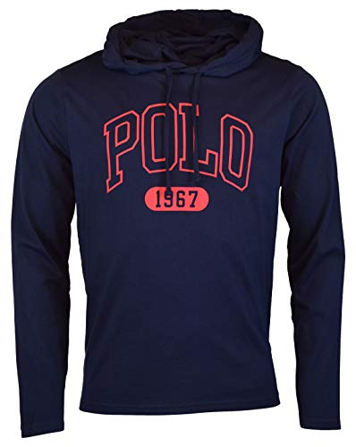 Chest Graphic Polo - Polo Ralph Lauren Mens Graphic 'Polo' Hooded T-Shirt (Small, Navy)