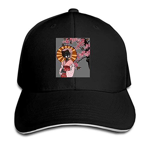 Japanese Elements Snapback Cap Flat Bill Hats Adjustable Blank Caps for Men Women ()