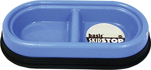 JW Pet Company Skid Stop Basic Double Diner For Pets, Small, Colors Vary (Pets Stop Diners Double)