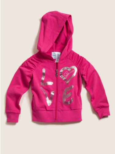 Guess Little Girls' Dark Pink Love Active Jacket