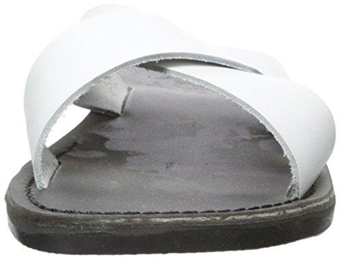 Jerusalem Sandaler Mens Elan Glid Sandal Svart / Vit