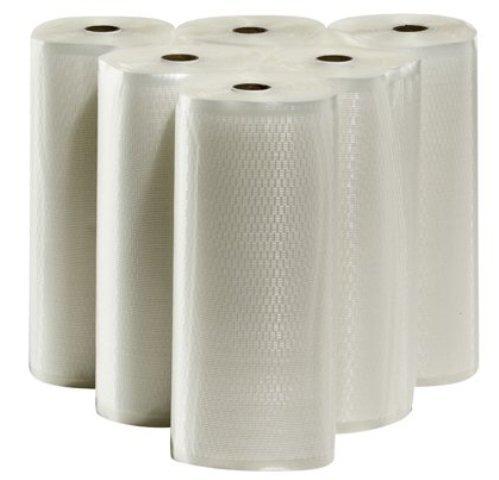 6 – 11″x50′ Vacuum Seal Rolls Commercial Grade Embossed Vacuum Sealer Bags