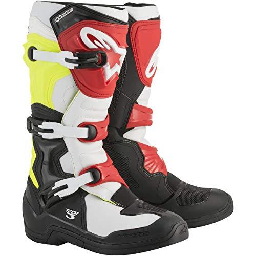 Alpinestars Tech 3 Boots-Black/White/Yellow/Red-8