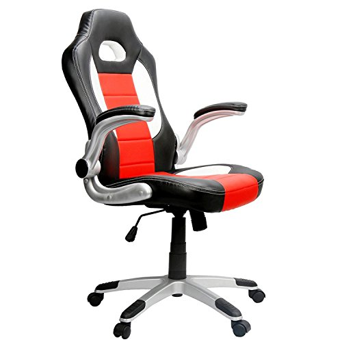 EAMBRITE Ergonomic Racing Chair Hight-back PU Leather Gaming