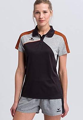 Erima GmbH Premium One 2.0 Polo de Tenis, Mujer, Negro/Gris ...