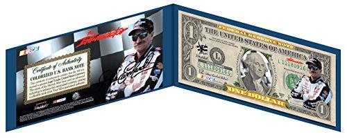 Earnhardt Dale Car First Race - DALE EARNHARDT SR #3 NASCAR Colorized US $1 Bill - THE INTIMIDATOR * Licensed *
