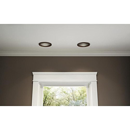 Kichler Barrington Distressed black and wood Baffle Recessed Light Trim (Fits Housing Diameter: 6-in)