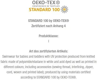 Baby and Oeko-Tex 100 certification in blue or turquoise infant swimwear set with UV protection 50 Olibia Mar