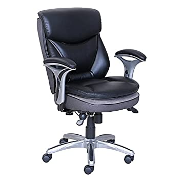 Serta(R) Smart Layers(TM) Verona Manager Chair, Black/Silver