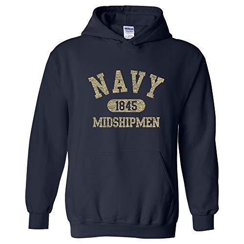 UGP Campus Apparel AH20 - US Naval Academy Midshipmen Athletic Arch Hoodie - Medium - Navy