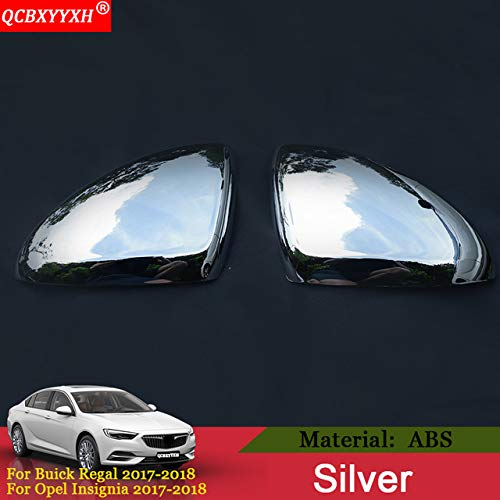 Pukido QCBXYYXH Car Styling Auto Rearview Mirror Cover Frame Sticker Sequin Exterior Decoration for Buick Regal 2017 2018 Opel Insignia - (Color: Silver)