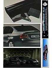 Shine D.BLACK folia przyciemniająca do samochodu Van Limo redukuje odblaski przeciwsłoneczne uniwersalne dopasowanie 3 m x 50 cm zestaw, czarna