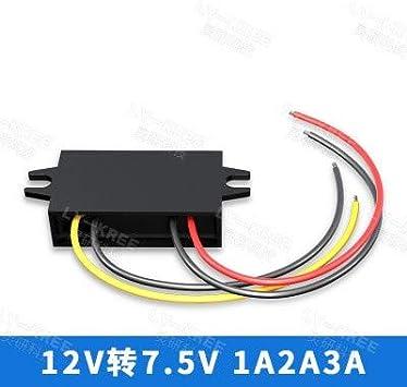 HaiMa Buck Converter R/égulateur de Tension 12V 24V 36V 48V /à 5V 3A Adaptateur-USB Interface miniP5
