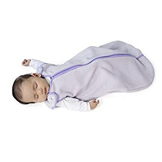 Sleep nest Fleece Baby Sleeping Bag, Lavender, Small (0-6 Months)