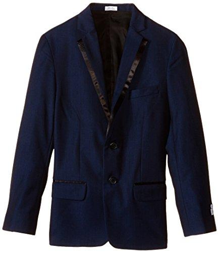 Single Breasted Klein Calvin Suit - Calvin Klein Big Boys' Twill Blazer, Dark Blue, 12