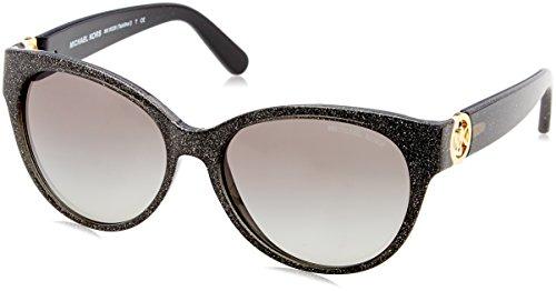 Michael Kors Women's Tabitha I Black Glitter/Grey Gradient Sunglasses (Black Michael Kors Frames)
