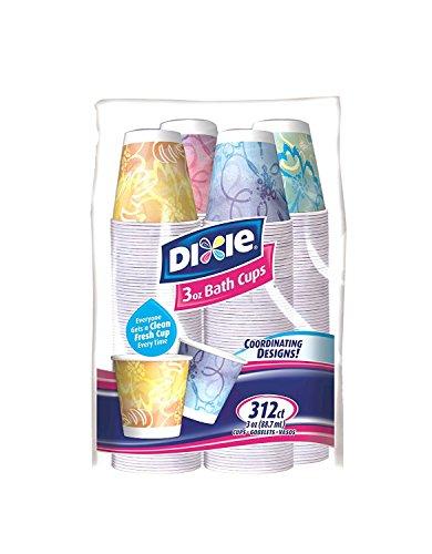 Dixie Bath Cups - 3 oz - Prints - 312 ct