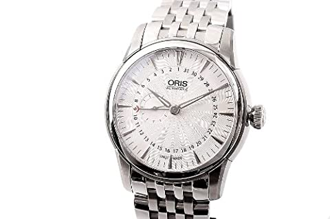Oris Artelier Pointer Date Automatic Stainless Steel Mens Watch Black Dial 744-7665-4054-MB (Watch Automatic Oris)