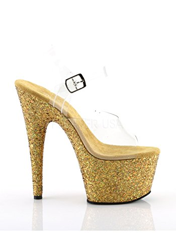 Adore Bout 708lg Gold Clr Pleaser Glitter Multi Ouvert Femme 7RCxaga