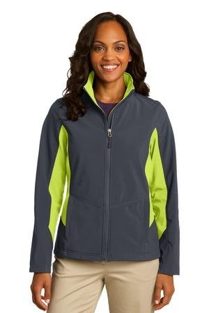 Port Authority Women's Colorblock Soft Shell Jacket_Bat Gry/Ch - Authority Style