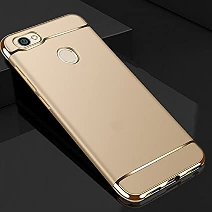 best sneakers e1f03 f5ee2 RIdhaniyaa 360 Degree Polycarbonate Back Cover for Xiaomi Mi Redmi Y1 (Gold)