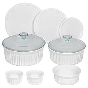 Best Epic Trends 41gsc2StK7L._SS300_ CorningWare French 10-Piece Bakeware Set, White
