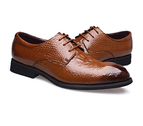 HYLM Zapatos de los hombres de Nueva Inglaterra de los zapatos ocasionales del negocio de los hombres de / zapatos de la manera / del cuero / del cordón Brown