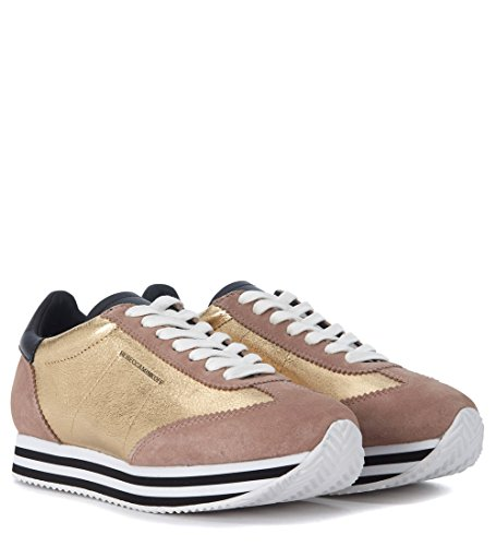 Sneakers Gold Leather Gold Woman's Minkoff and Susanna Pink Rebecca z4w80qA