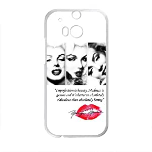Marilyn Monroe Red Lips Pattern Plastic Case For HTC M8