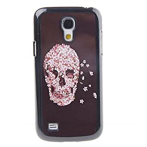 SHOUJIKE Flowers Skull Decal Pattern Mirror Smooth Back Hard Case for Samsung Galaxy S4 Mini I9190