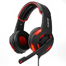 ARINO Led Gaming Headset GM990 Over-Ear Headphones 3.5mm 5.1 Dual Stereo Sound USB Wired with Mic for PC PS4, XBOX One Game Skype VOIP Music