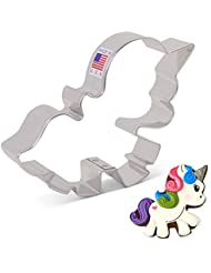 Cute Unicorn Cookie Cutter by LilaLoa - 3.13 Inch - Ann Clark - US Tin Plated Steel