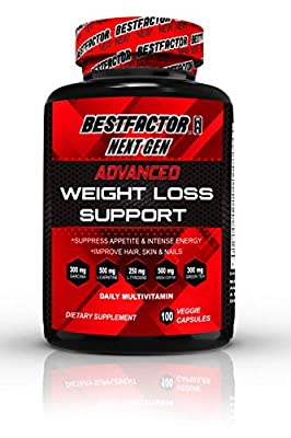 BESTFACTOR Max Next Gen Weight Loss Pills for Women & Men by Best Factor (100 Veggie Caps). Fat Burner & Appetite Suppressant. Fast Metabolism Diet Pills & Weight Loss Supplements for Max Energy.