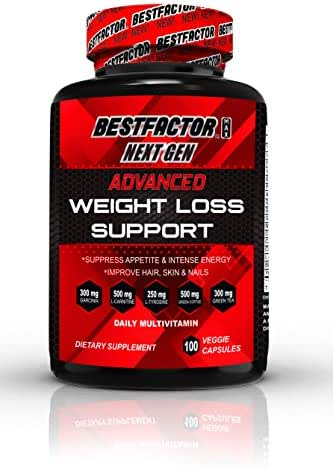 Appetite Suppressant Diet Pills for Women & Men by BESTFACTOR (100 Veggie Caps). Thermogenic Fat Burner Weight Loss Pills. Fast Metabolism Weight Loss Supplements for Energy - Daily Multivitamin.