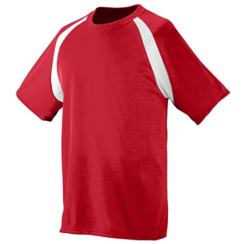 Augusta Soccer Jerseys - Augusta Sportswear MEN'S WICKING COLOR BLOCK JERSEY XL Red/White
