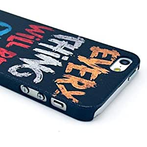 TLB Colorful Letters Pattern Hard Case for iPhone 5/5S