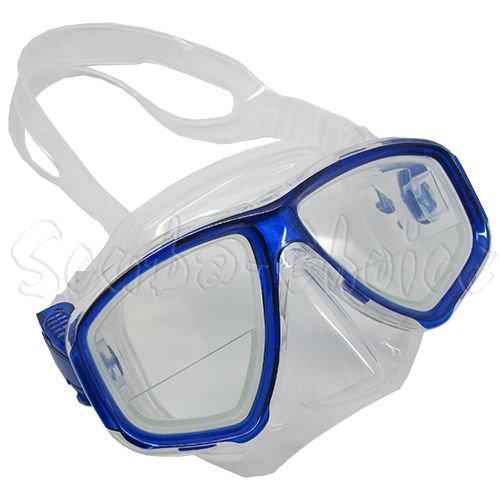 Scuba Choice Scuba Blue Diving Dive Mask Gauge Reader Farsighted Prescription RX Optical Corrective Bottom 1/3 Prescripted Lenses, 2.5 (Best Prescription Dive Mask)
