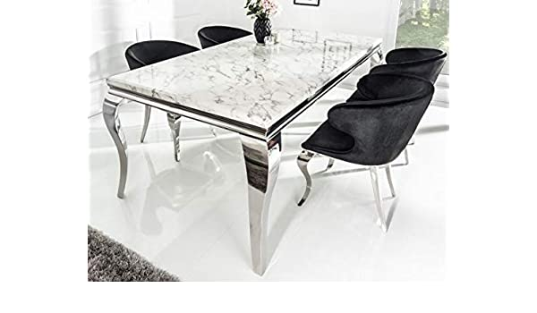 Casa Padrino Juego de Comedor Designer Negro/Plateado/Blanco ...
